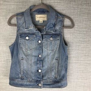 Pilcro and the Letterpress Denim Vest Size M